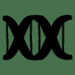 Logotipo de laboratorio de adn