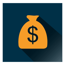 Dollar bag square icon