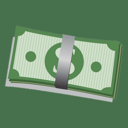 Paquete de billetes de dólar Transparent PNG