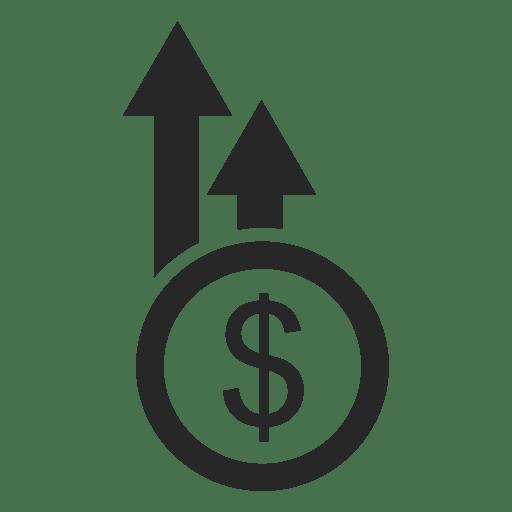 Dollar coin arrows Transparent PNG