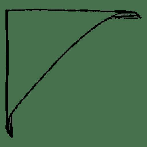 Doodle corner label Transparent PNG