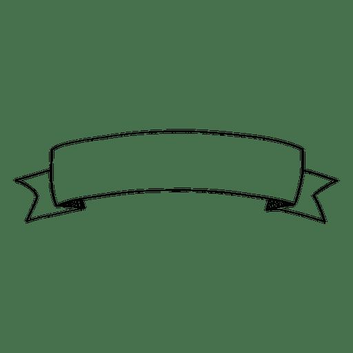 Doodle curve ribbon