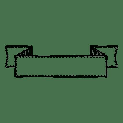 Doodle folded ribbon Transparent PNG