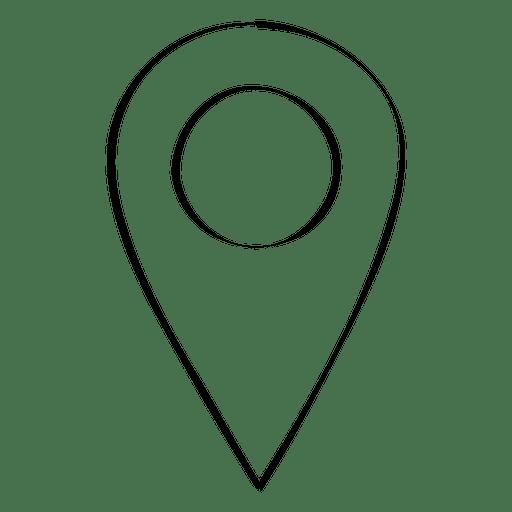 Ponteiro de localização Doodle Transparent PNG