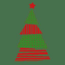 Dots lines pine tree