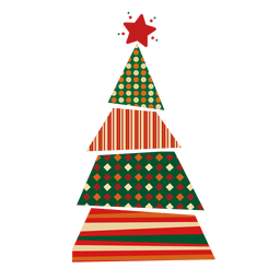 Dots lines rhomb christmas tree