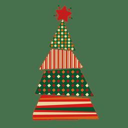 Líneas de puntos rombo árbol de navidad