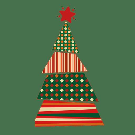 Dots lines rhomb christmas tree Transparent PNG