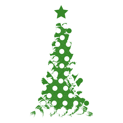 Dotted grunge pine tree Transparent PNG