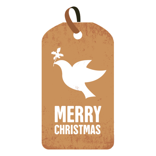 Dove christmas tag Transparent PNG