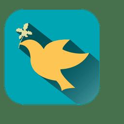 Dove square icon