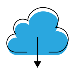 ícone de download nuvem