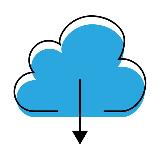 Download cloud icon Transparent PNG