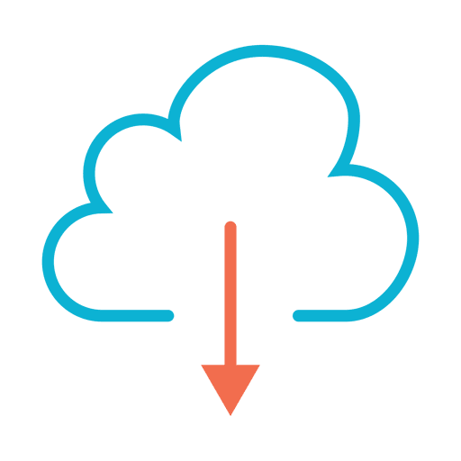 Download from the cloud icon Transparent PNG