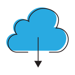 Download cloud graphic