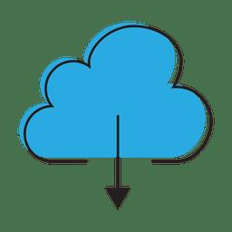 Laden Sie die Cloud-Grafik herunter
