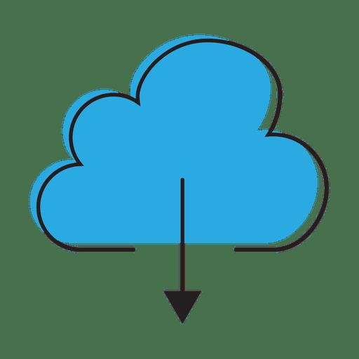 Download cloud graphic Transparent PNG