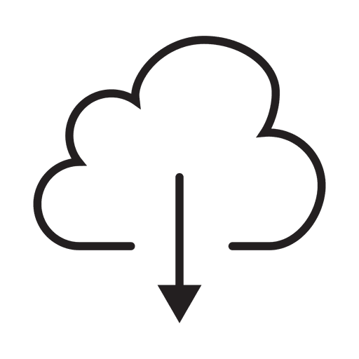 Download cloud stroke icon Transparent PNG