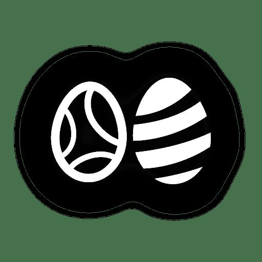 Easter eggs Silhouette