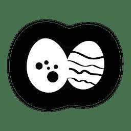 Icono de Pascua los huevos