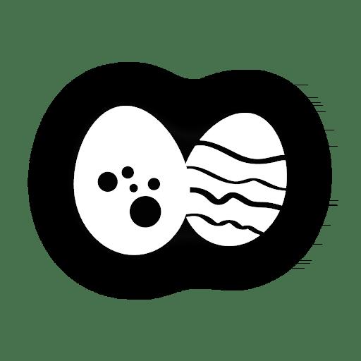 Icono de huevos de pascua