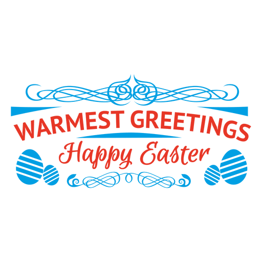 Easter greeting emblem Transparent PNG