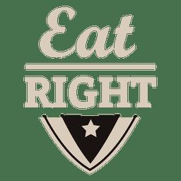 Comer bien la etiqueta de motivación