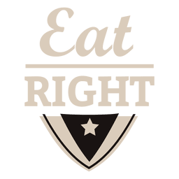 Eat right motivational label