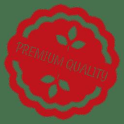 Insignia de etiqueta de ecología roja