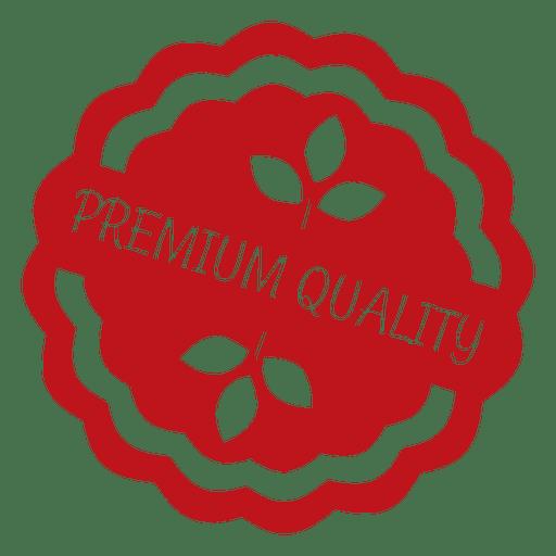 Insignia de etiqueta de ecología roja Transparent PNG