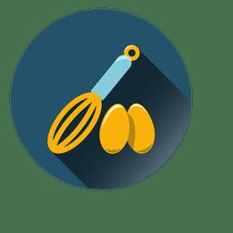 Batidor de huevos redondo icono