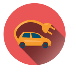 Electric car circle icon