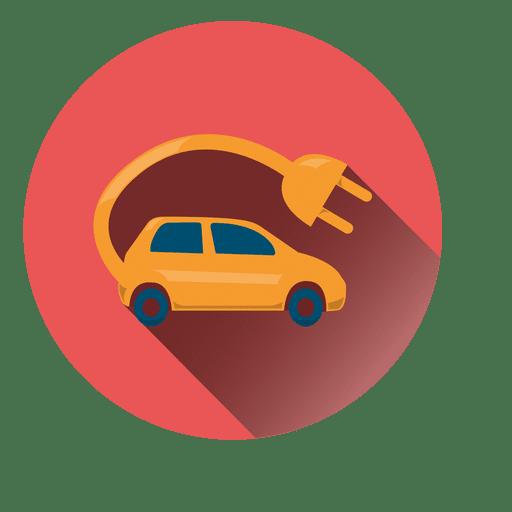 Ícone de círculo de carro elétrico