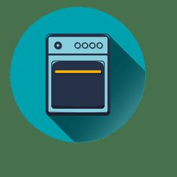 Electric stove round icon