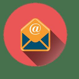 Icono del círculo del correo electrónico
