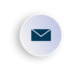 Email circle icon in 3D