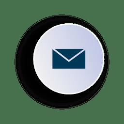 Ícone de círculo de e-mail em 3d