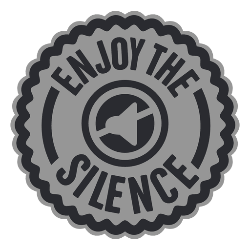 Enjoy the silence label Transparent PNG