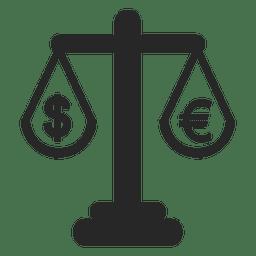 Escala del euro y del dólar