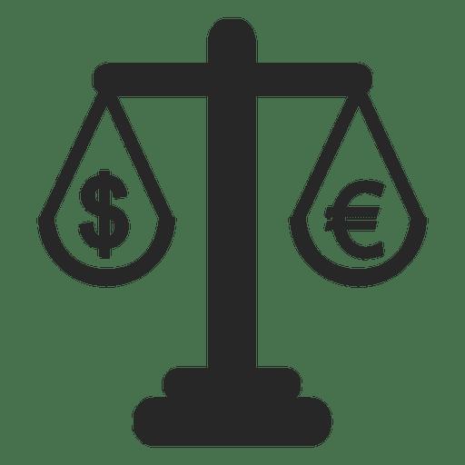 Escala de Euro e Dólar Transparent PNG