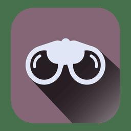 Icono cuadrado de gafas