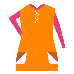 Colorful fashion clothes dress