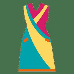 Roupas de moda brilhante vestido