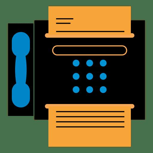 Icono de la máquina de fax