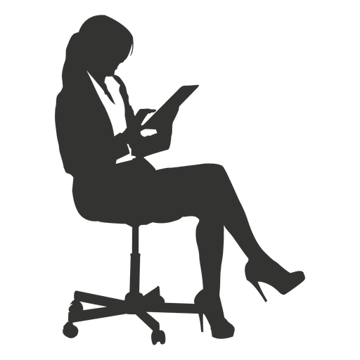 Female executive sitting 1 Transparent PNG