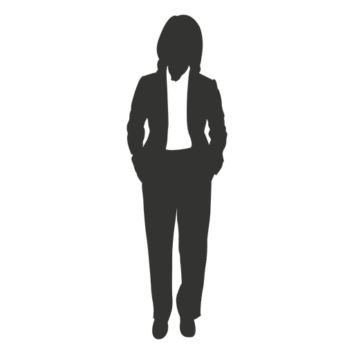 Female executive standing Transparent PNG