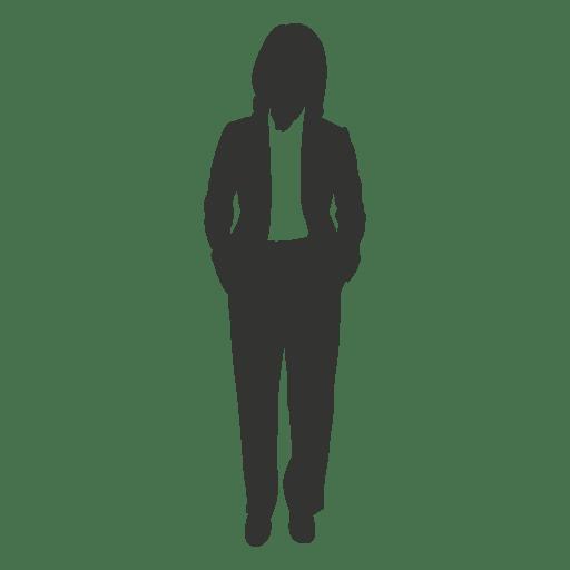 Mujer ejecutiva de pie