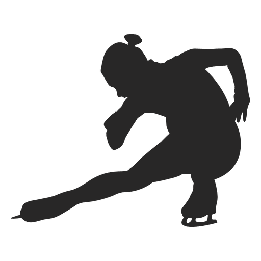 Female ice skating player Transparent PNG