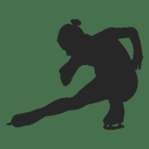 Jugador femenino de patinaje sobre hielo Transparent PNG