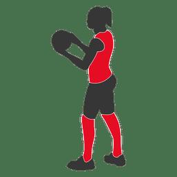 Jogador de voleibol feminino 1
